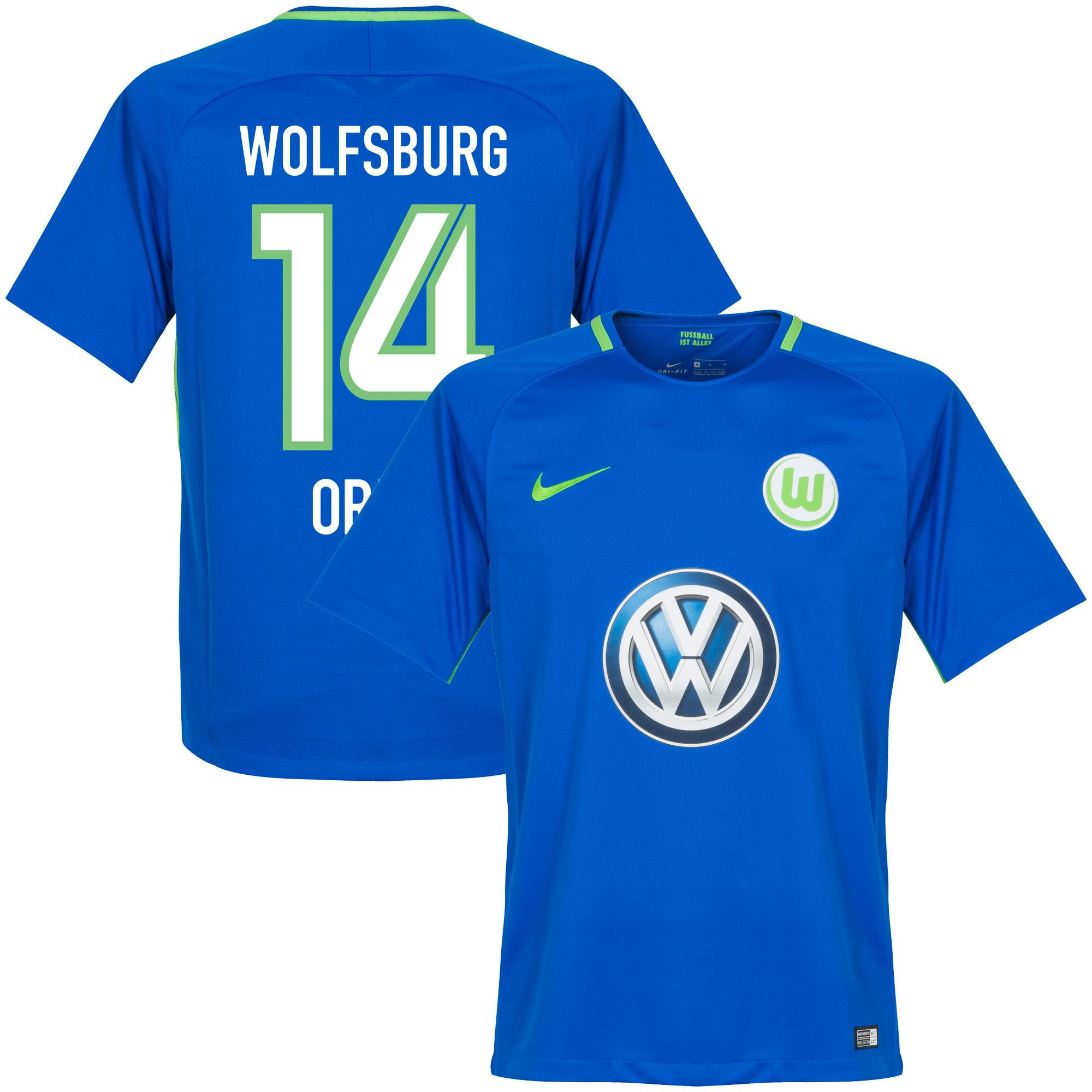 VfL Wolfsburg Away Origi Jersey 2017 / 2018 (Fan Style Printing) - M