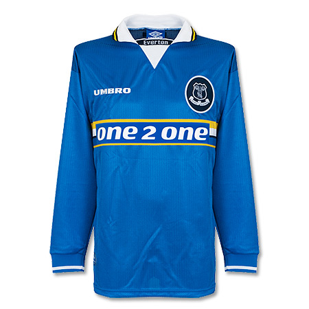 Umbro Everton 1997-1998 Home Shirt long sleeve - NEW Condition (Excellent) - XL