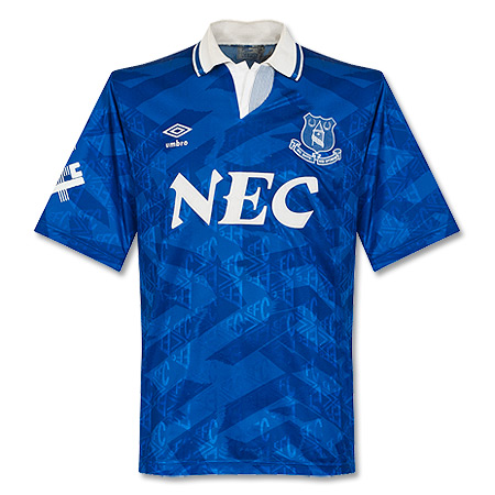 Umbro Everton 1991-1992 Home Shirt - USED Condition (Poor) - Size