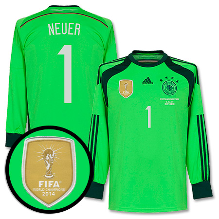 Germany 4 Star GK Neuer Shirt 2014 2015 Inc WC Final Transfer - 54