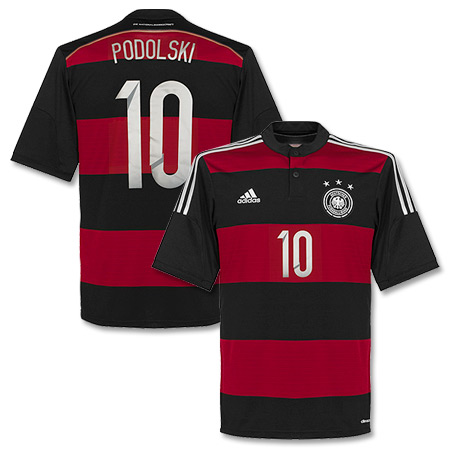 Germany Away Podolski Shirt 2014 2015