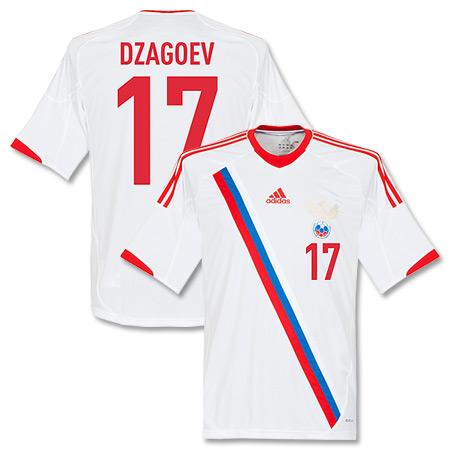 12-13 Russia Away Shirt + Dzagoev 17 (Fan Style) - 58